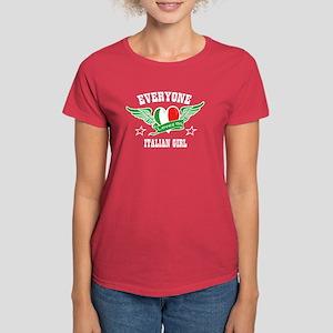Everyone loves an Italian gir Women's Dark T-Shirt