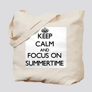 Keep Calm and focus on Summertime Tote Bag