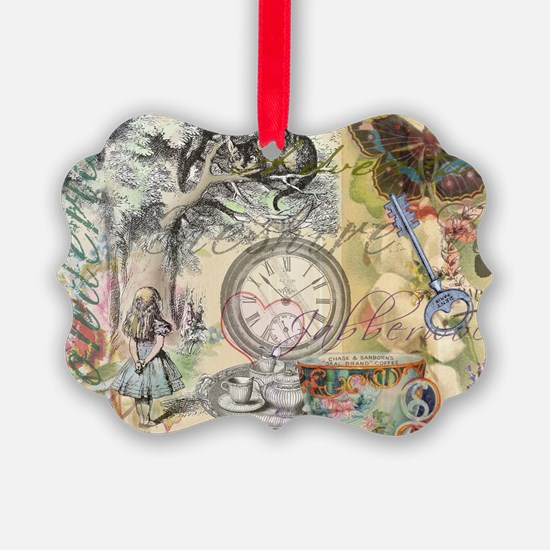 Cheshire Cat Alice in Wonderland Ornament