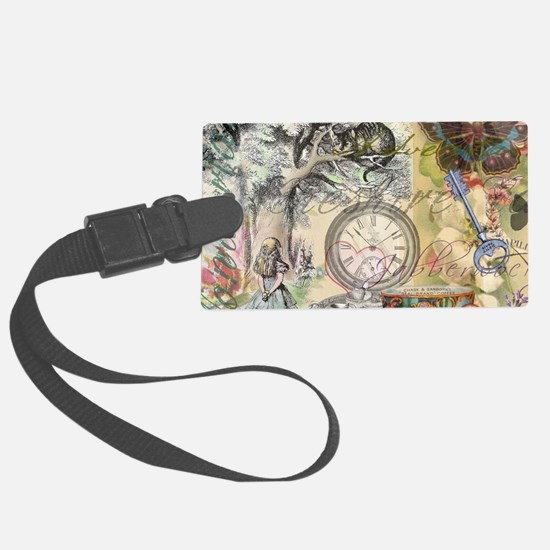 Cheshire Cat Alice in Wonderland Luggage Tag