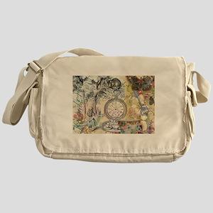 Cheshire Cat Alice in Wonderland Messenger Bag
