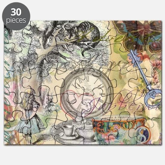 Cheshire Cat Alice in Wonderland Puzzle