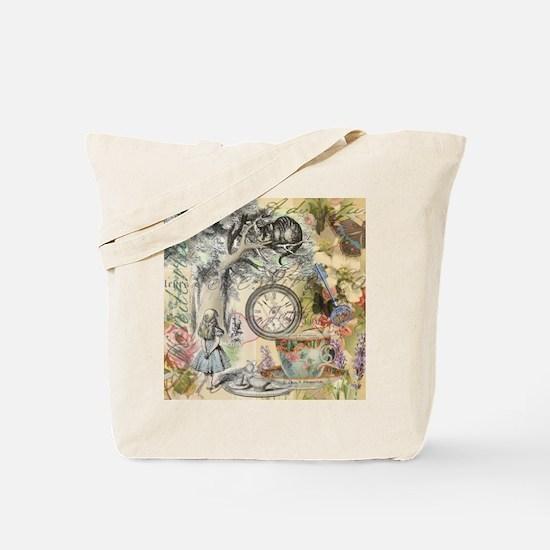 Cheshire Cat Alice in Wonderland Tote Bag