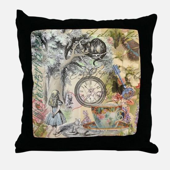 Cheshire Cat Alice in Wonderland Throw Pillow