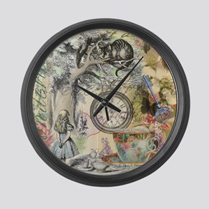 Cheshire Cat Alice in Wonderland Large Wall Clock
