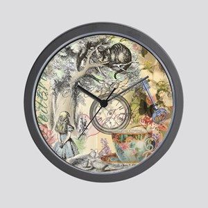 Cheshire Cat Alice in Wonderland Wall Clock