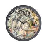 Alice in wonderland mad hatter Wall Clocks