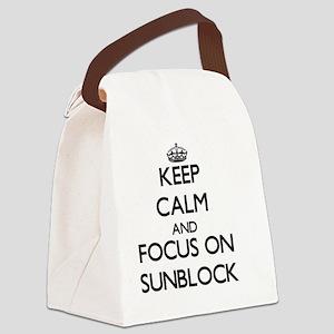 Keep Calm and focus on Sunblock Canvas Lunch Bag