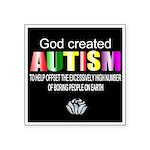 God and Autism Sticker