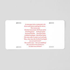 GEOLOGIST15 Aluminum License Plate