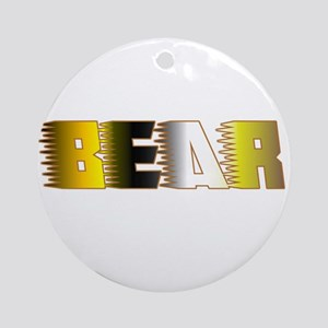 BEAR IN BEAR PRIDE LETTERS Ornament (Round)