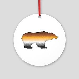 FURRY BEAR PRIDE BEAR CUTOUT Ornament (Round)