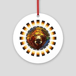 BEAR PRIDE/GLASS BEAR Ornament (Round)