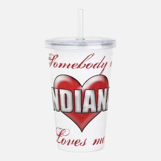 Somebody In Indiana Lo Acrylic Double-wall Tumbler