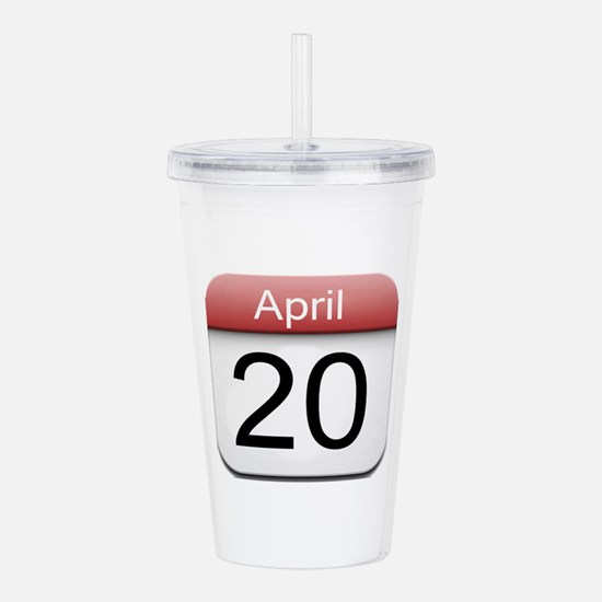 iphone date 420.png Acrylic Double-wall Tumbler