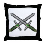 Crossed Celtic Daggers Throw Pillow