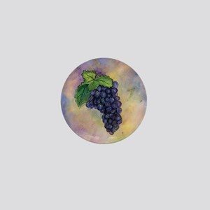 Red Wine Grapes Mini Button