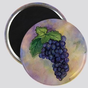Red Wine Grapes Magnet