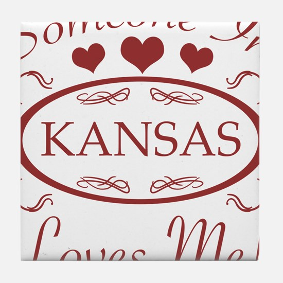 Somebody In Kansas Loves Me Tile Coaster