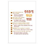 God's Top Ten List Posters