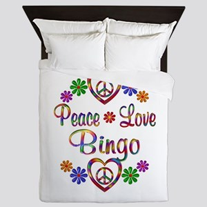 Peace Love Bingo Queen Duvet