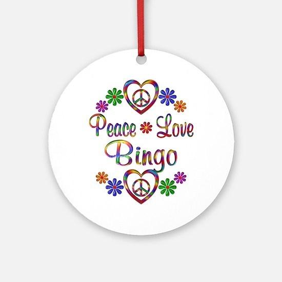 Peace Love Bingo Ornament (Round)