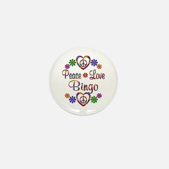 Peace Love Bingo Mini Button