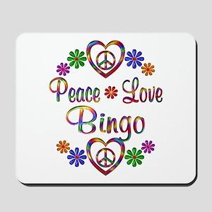 Peace Love Bingo Mousepad
