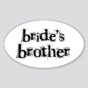 Bride's Brother Oval Sticker