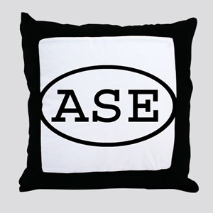 ASE Oval Throw Pillow