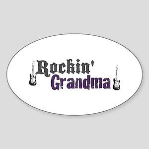 Rockin Grandma Oval Sticker