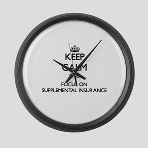 Keep Calm and focus on Supplement Large Wall Clock