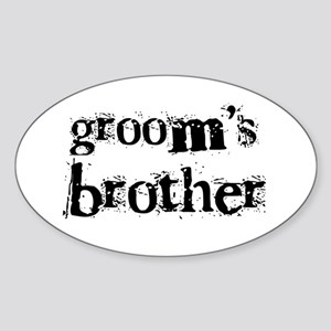 Groom's Brother Oval Sticker