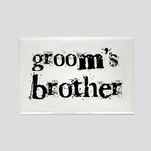 Groom's Brother Rectangle Magnet