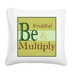 Fruitful Being Square Canvas Pillow