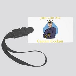 Captain Cockpit Luggage Tag