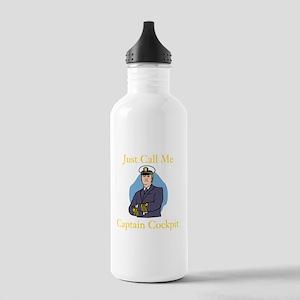 Captain Cockpit Water Bottle