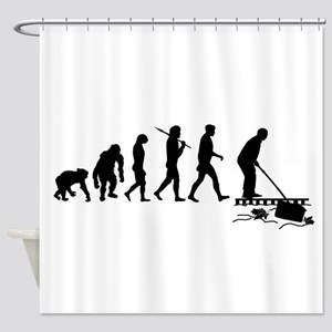 Pool Cleaning Man Shower Curtain