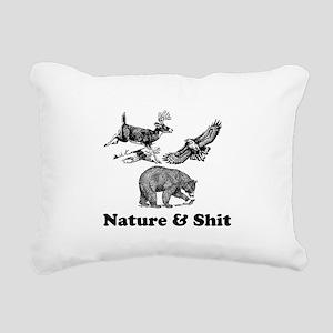 Nature & Shit Rectangular Canvas Pillow