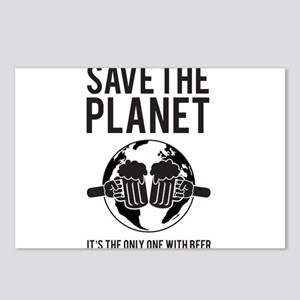 Save The Planet It's The Only One With Beer Postca