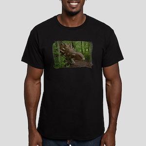 dinosaur 3785 Men's Fitted T-Shirt (dark)