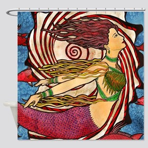 Seashell Mermaid Shower Curtain
