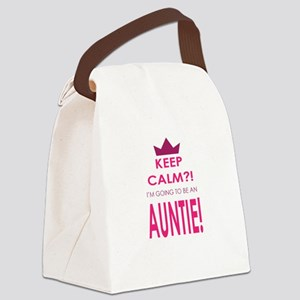 Keep Calm Im going to be an auntie Canvas Lunch Ba