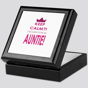Keep Calm Im going to be an auntie Keepsake Box