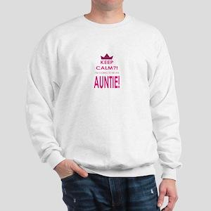 Keep Calm Im going to be an auntie Sweatshirt