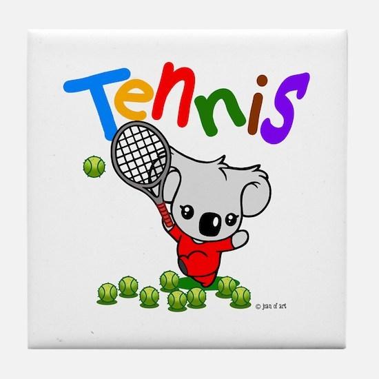 Tennis Koala Bear Tile Coaster