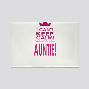 I cant keep calm going to be an auntie Magnets