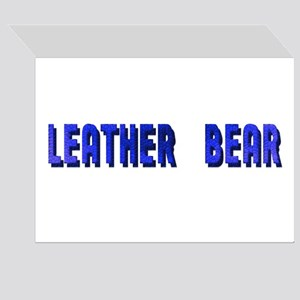 LEATHER BEAR TEXTURED & WORDS GreetingCards 10 Pk