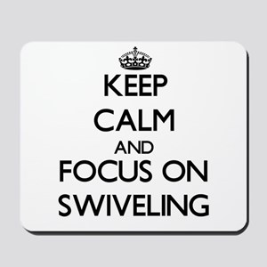 Keep Calm and focus on Swiveling Mousepad