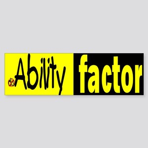 Ability Factor Bumper Sticker